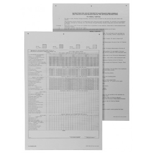 PKG-GS PREVENTATIVE MAINT WALL CHART