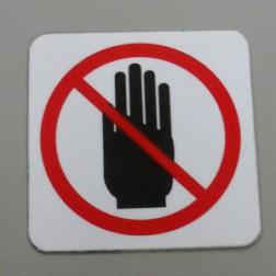 LABEL NO HANDS (3,47 cm x 3,47 cm)