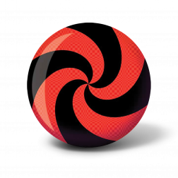 VIZ-A-BALL SPIRAL RED/BLACK - 10 LBS