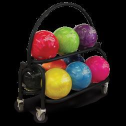 PKG-BALL CART 2-TIER BLACK