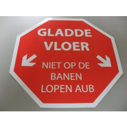 STICKER 'GLADDE VLOER'