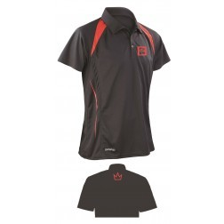 POLO BRUNSWICK BLACK/RED