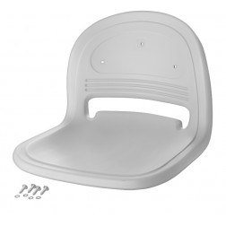 PKG BLOW MOLDED SEAT - LIGHT GRAY