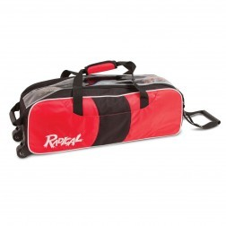 TRIPLE SLIM TOTE BLACK/RED - RADICAL
