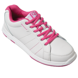 WOMEN'S SATIN WHITE/HOT PINK - 10 (40) / PROMOTION