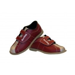 "RENTAL SHOE ""BOWLING"" VELCRO RED/GREY"