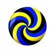 Viz-A-Ball Spiral Yellow/Blue/Black