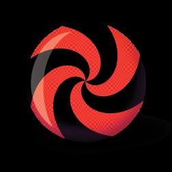 VIZ-A-BALL SPIRAL RED/BLACK - 10 LBS