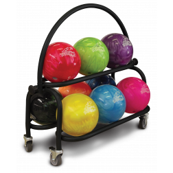 PKG-BALL CART 2-TIER BLACK