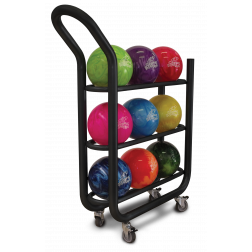 PKG-BALL CART 3-TIER BLACK